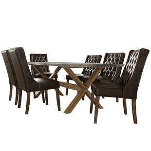 Peterson 7 Piece Dining Set Union Rustic