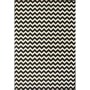 Shopping for Cunningham Chevron White/Black Area Rug ByEbern Designs