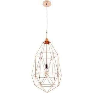 Price comparison Diego 1-Light Foyer/Geometric Pendant By Wrought Studio