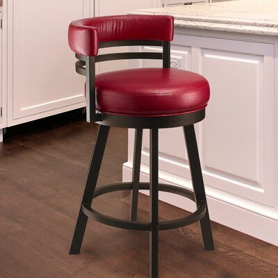 Leather Low Back Counter Height Bar Stools You'll Love in ...