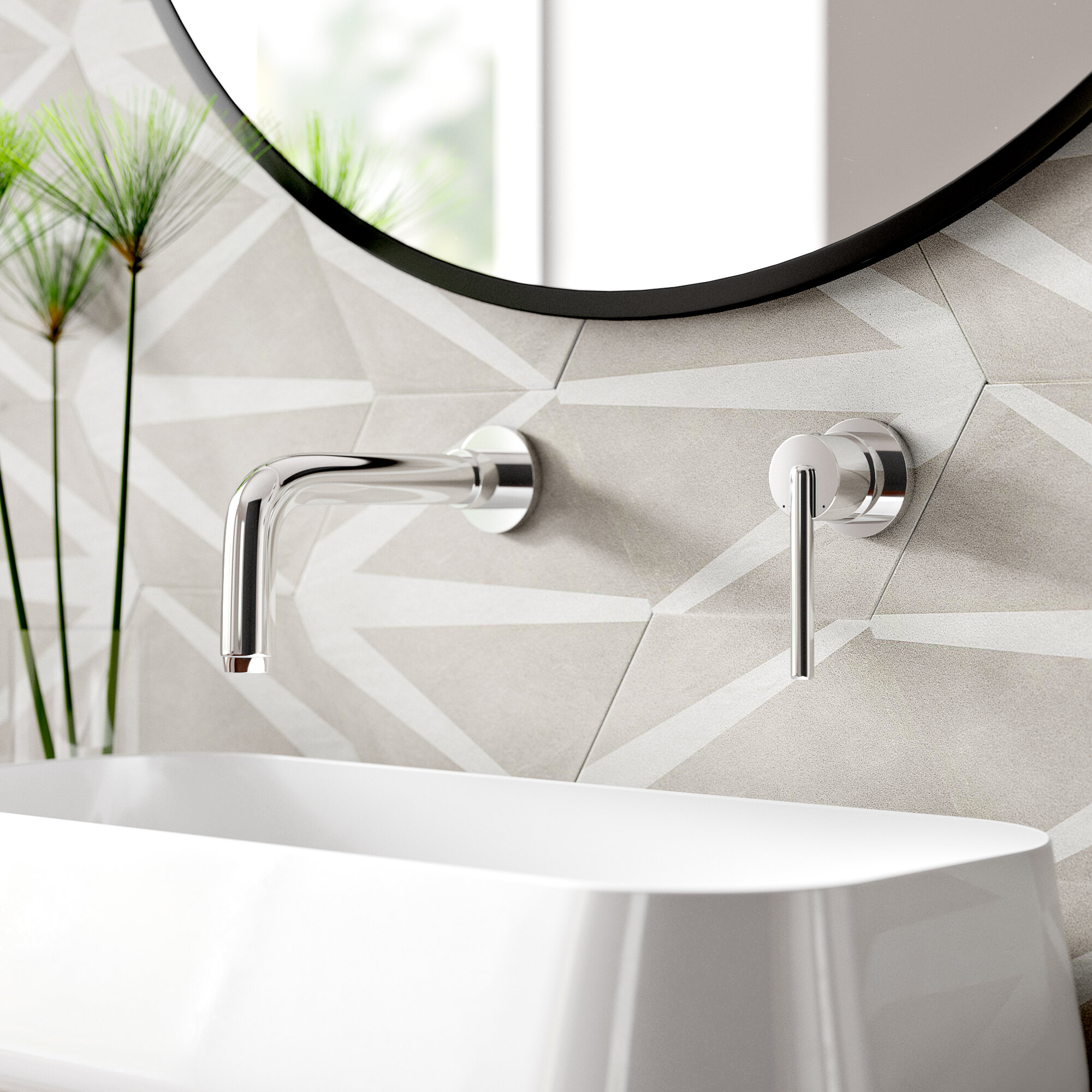 Modern Wall Mounted Water Efficient Bathroom Sink Faucets Allmodern