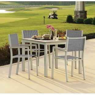 Latitude Run Farmington 5 Piece Dining Set with Sling Back Chairs
