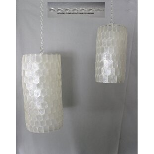 Best Price Altizer Capiz Shell 2-Light Lantern Head (Set of 2) By Highland Dunes