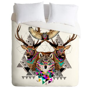 East Urban Home Forest Friends Duvet Cover Set