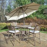 Mcgrady 5 Piece Bar Height Dining Set with Cushions