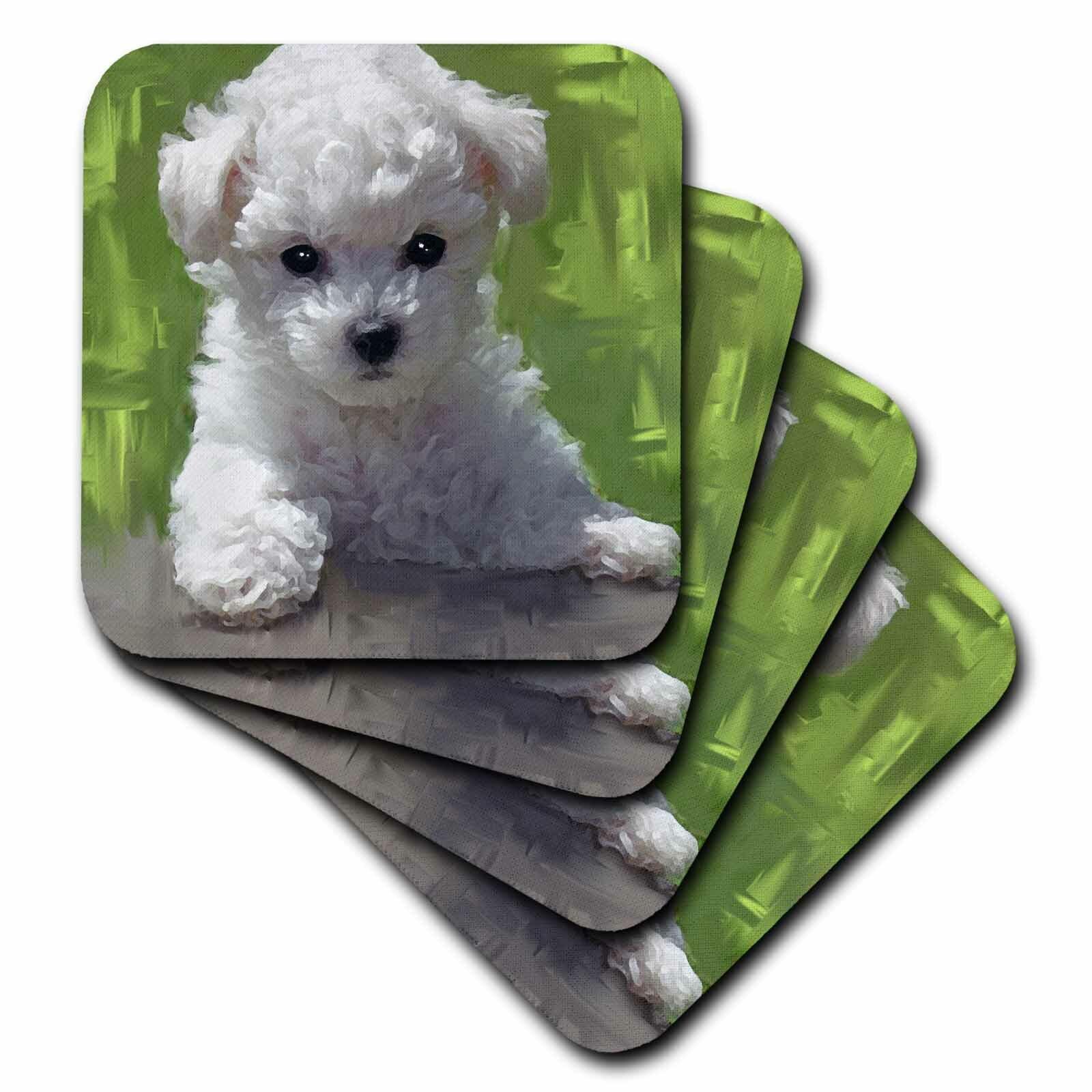 3drose Ceramic Tile Coasters Bichon Frise Puppy Set Of 4 Cst 5323 3 Wayfair