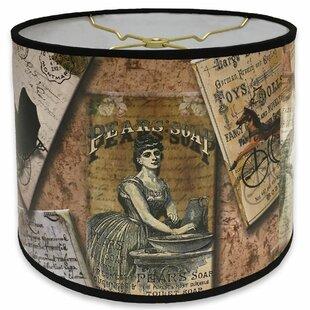Victorian Letters Designer Hard Back 10 Paper Drum Lamp Shade