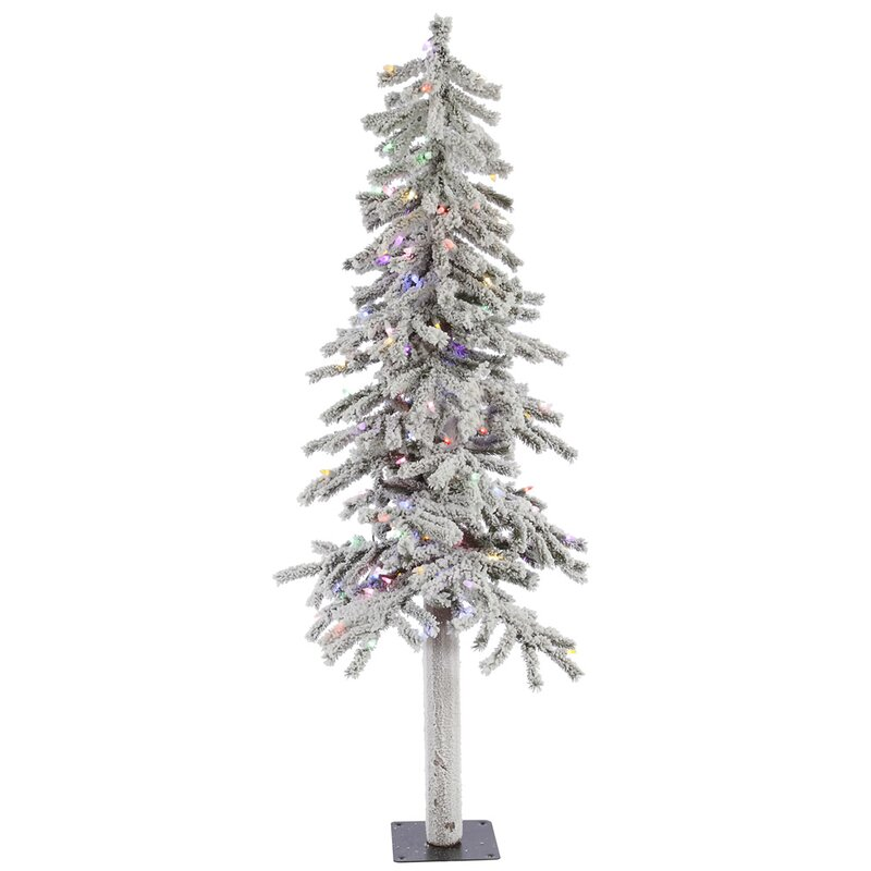 The Holiday Aisle Flocked Alpine 5' White Artificial Christmas