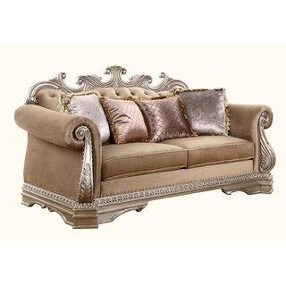 Amia Loveseat w/4 Pillows by Rosdorf Park SKU:DB804777 Price Compare