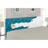 Underwater Queen Upholstered Panel Headboard by East Urban Home