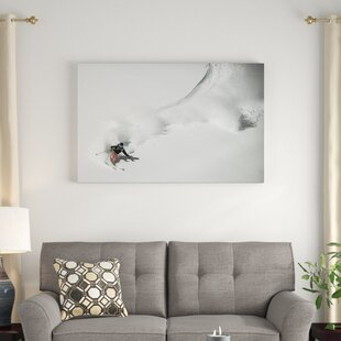 'Swing Ski' Photographic Print on Wrapped Canvas by East Urban Home