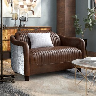 Annessia Leather Loveseat by 17 Stories
