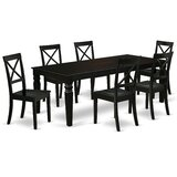 Askim 7 Piece Extendable Solid Wood Dining Set by Winston Porter