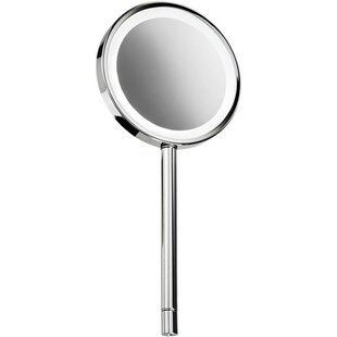 Compare prices Housley Round Handheld LED Makeup/Shaving Mirror By Charlton Home