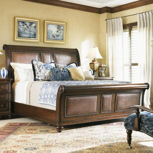 Tommy Bahama Home Landara Upholstered Sleigh Bed