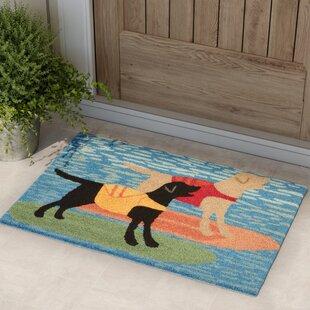 Birchview Surfboard Dogs Door Mat by Red Barrel Studio