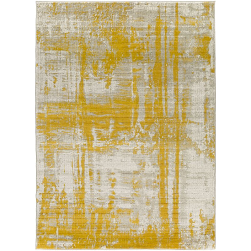 Dahl Light Gray Gold Area Rug