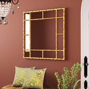 gold bamboo mirror. Square Bamboo Accent Mirror Gold N