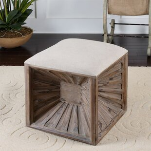 Browder Cube Ottoman by Union Rustic