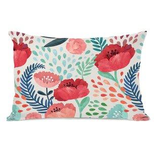 Osteen Florals Outdoor Lumbar Pillow