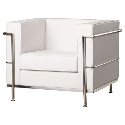 Comm Office Demars Contemporary Mid-back Lounge Chair With Encasing Frame Guest Chair