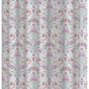 Benites Lotus Damask Cotton Shower Curtain