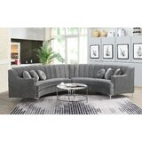 Keele 142 Symmetrical Modular Sectional by Everly Quinn