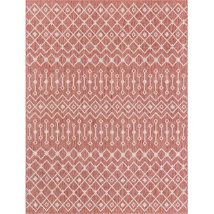 Julieta Red/White Indoor/Outdoor Area Rug