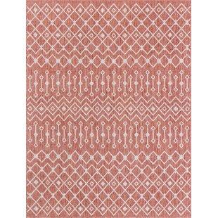 Julieta Red/White Indoor/Outdoor Area Rug