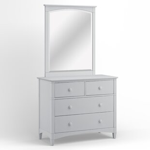 Harriet Bee Bonneau 4 Drawer Dresser with Mi..