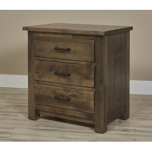 Linsey Bench Built 3 Drawer Nightstand