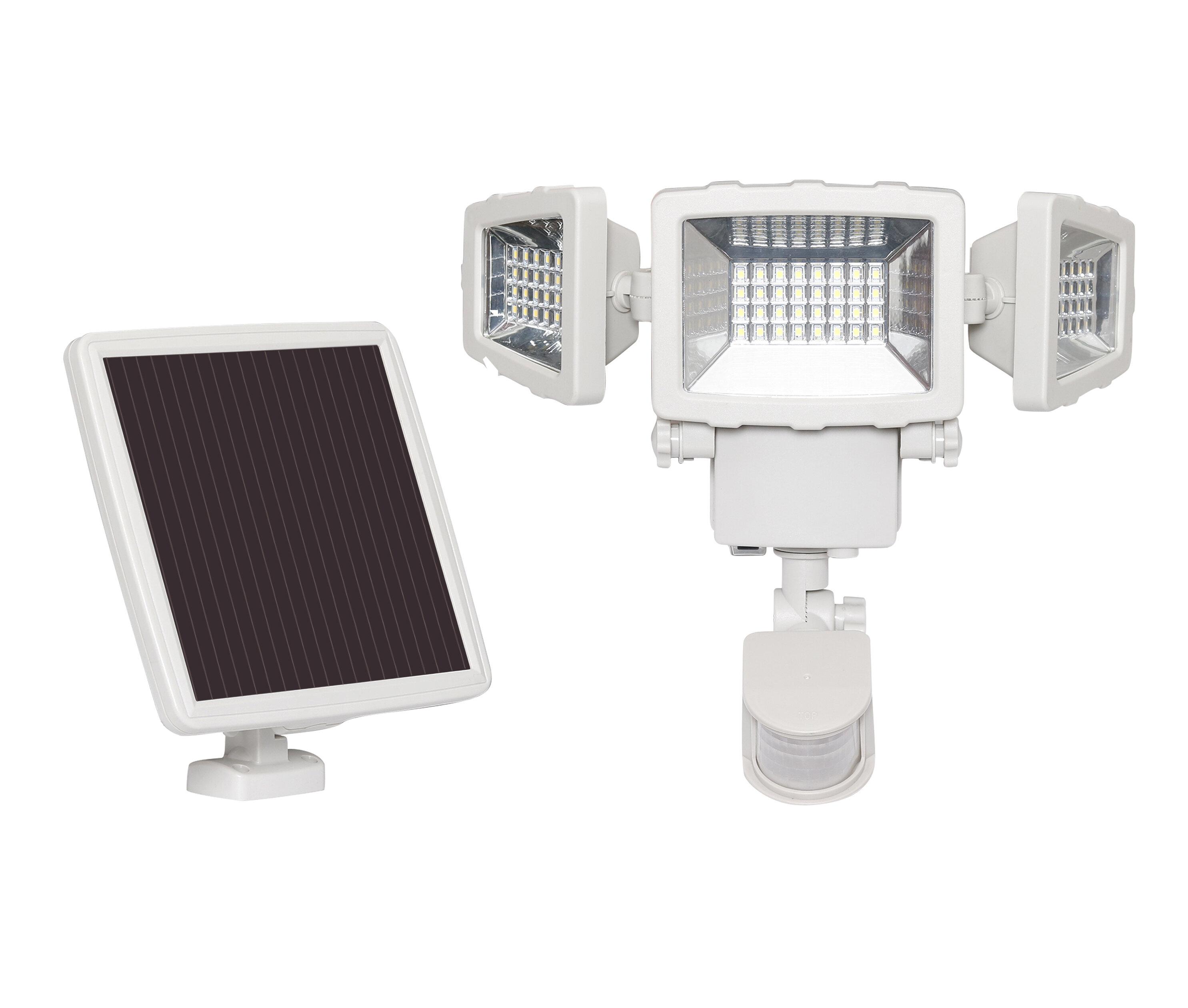 Westinghouse Solar Lighting Intelligent Triple Head Led Solar Powered Outdoor Security Flood Light With Motion Sensor Reviews Wayfair