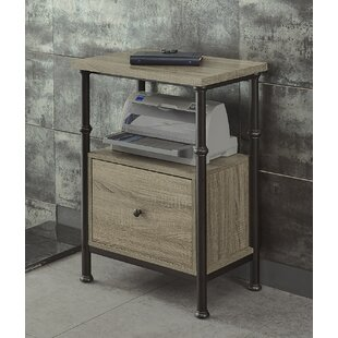 Gracie Oaks Milligan 1 Drawer Verticle Filing Cabinet