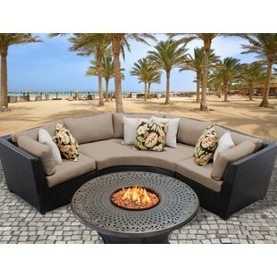 TK Classics Barbados 4 Piece Sectional Set with Cushions