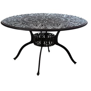 Merlyn Inlaid Lazy Susan Aluminum Dining Table by Fleur De Lis Living Cool