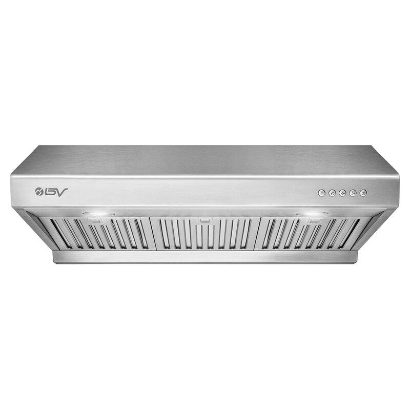Bv 30 750 Cfm Ducted Under Cabinet Range Hood In Silver Reviews Wayfair