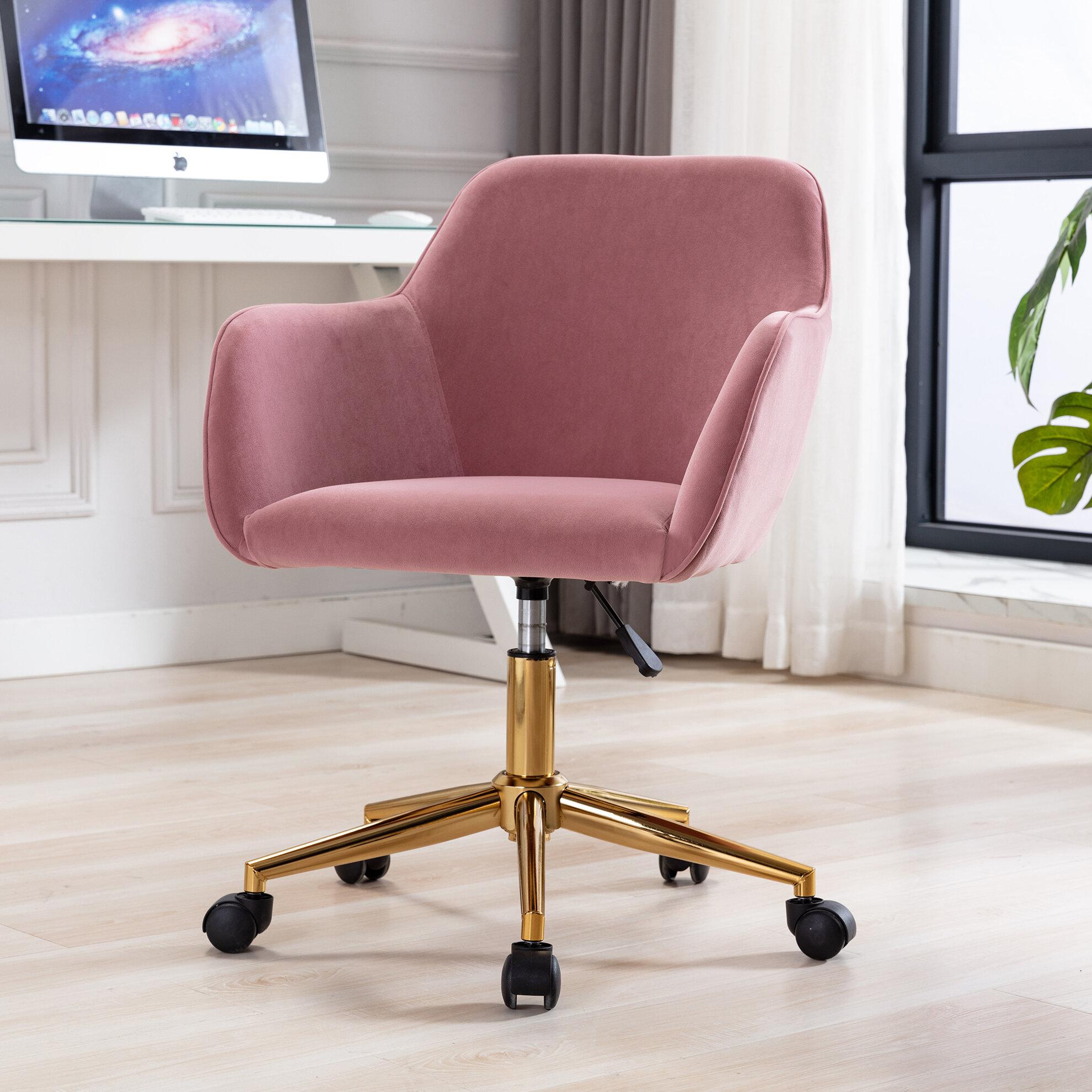 Everly Quinn Durden Velvet Task Chair Wayfair