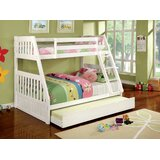 Cuyuna Twin Over Full Bunk Bed with Trundle by Harriet Bee