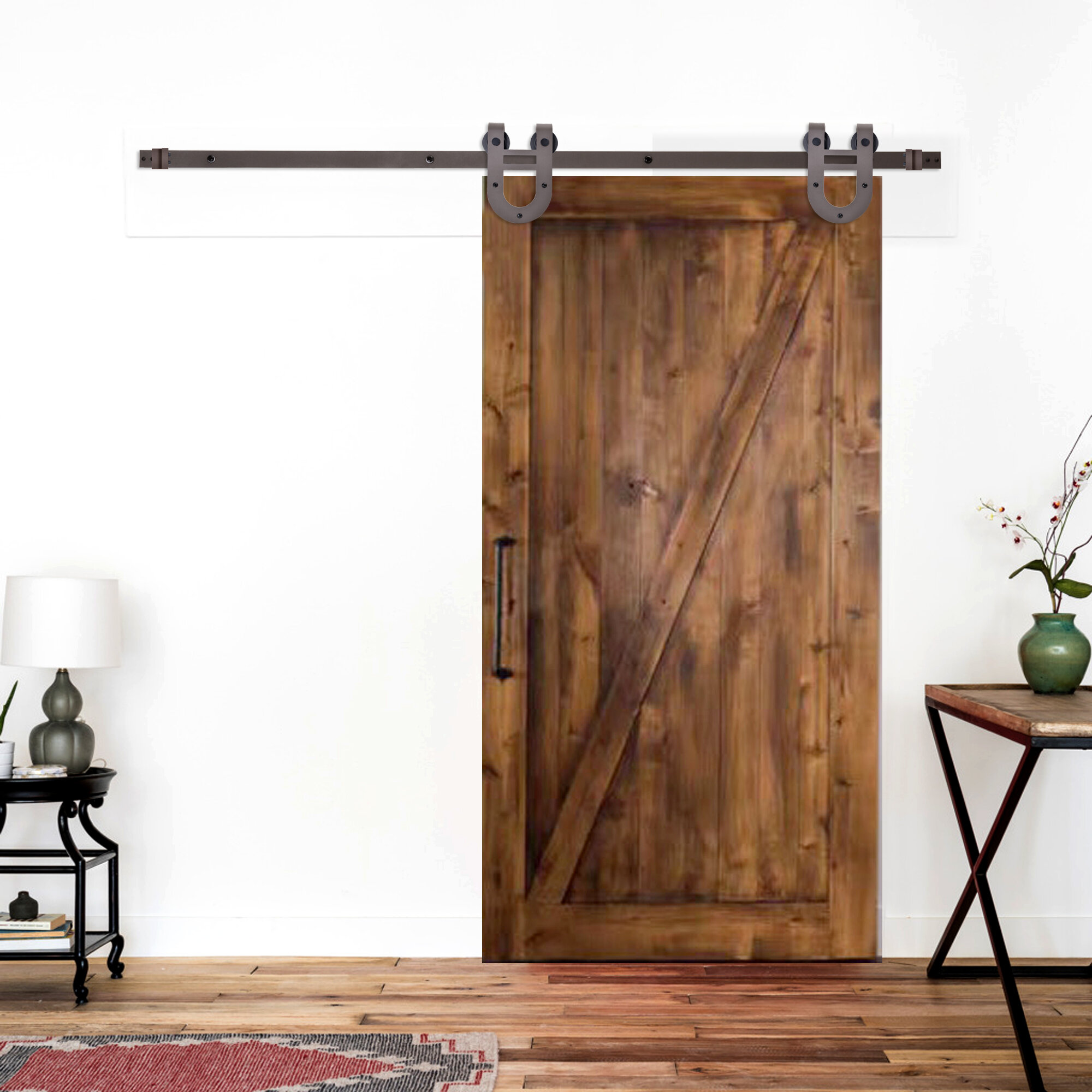 Calhome Classic Horseshoe Sliding Standard Single Track Barn Door Hardware Kit Reviews Wayfair