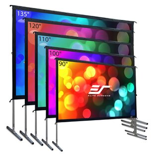 YardMaster2 White Portable Projection Screen by Elite Screens Cool