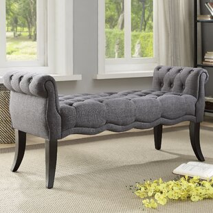 Price comparison Campbell Traditional Roll Arm Upholstered Bench ByOphelia & Co.