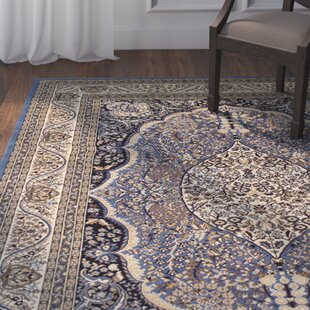 Nice Arison High End Ultra Dense Thick Woven Blue Area Rug
