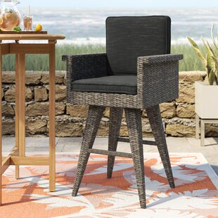 Pleasing Furst Outdoor Wicker 30 Patio Bar Stool With Cushion Machost Co Dining Chair Design Ideas Machostcouk