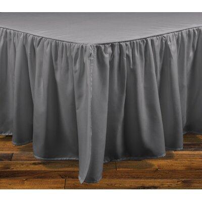 Brielle Stream 15 Bed Skirt Color: Light Gray, Size: Full
