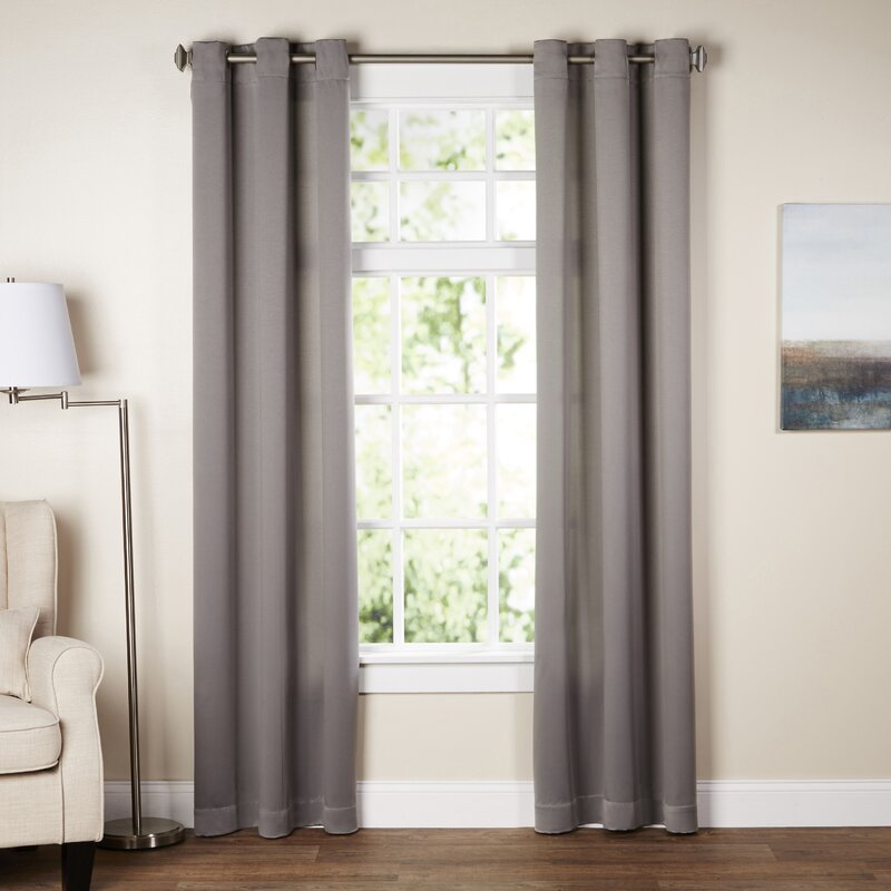 Window Treatments Images Part - 44: Wayfair Basics Solid Room Darkening Grommet Single Curtain Panel