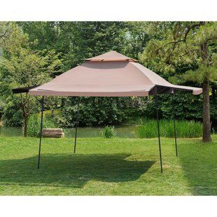 Sunjoy Double Roof 15.5 Ft. W x 15.5 Ft. D Steel Pop-Up Party Tent