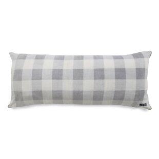 IZOD Gingham Printed Plush Polyfill Body Pillow