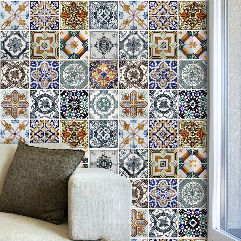 latitude vive alliance mediterranean tiles wall sticker | wayfair.co.uk