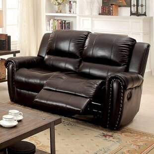 Hutchins Leathere Reclining Loveseat