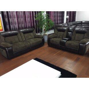 Red Barrel Studio Emery Reclining Leather Configurable Living Room Set
